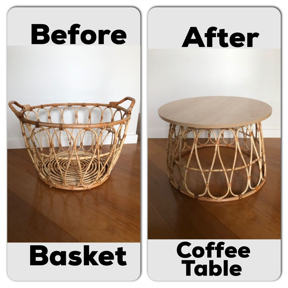 Photo of How To Make a Basket Coffee Table On A Budget