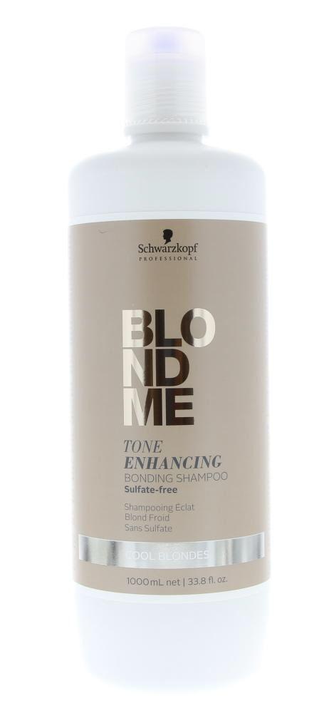 Schwarzkopf Blond Me Tone Enhancing Bonding Shampoo Sulfate-Free Cool Blonde Blond Haar 1000ml  Description: Schwarzkopf Blond Me Tone Enhancing Bonding Shampoo Sulfate-Free Cool Blondes.De sulfaat-vrije gepigmenteerde shampoo reinigt en creëert nieuwe haarbruggen in de haarvezel en biedt een subtiele neutralisatie van de meest koele blondresultaten. Voor dagelijks gebruik.Gebruik: Op nat haar aanbrengen. Tot 1 minuut laten inwerken zorgvuldig uitspoelen.  Price: 27.00  Meer informatie