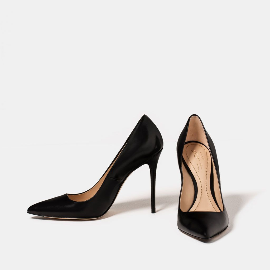 LIMITED EDITION LEATHER HIGH HEEL SHOES from Zara