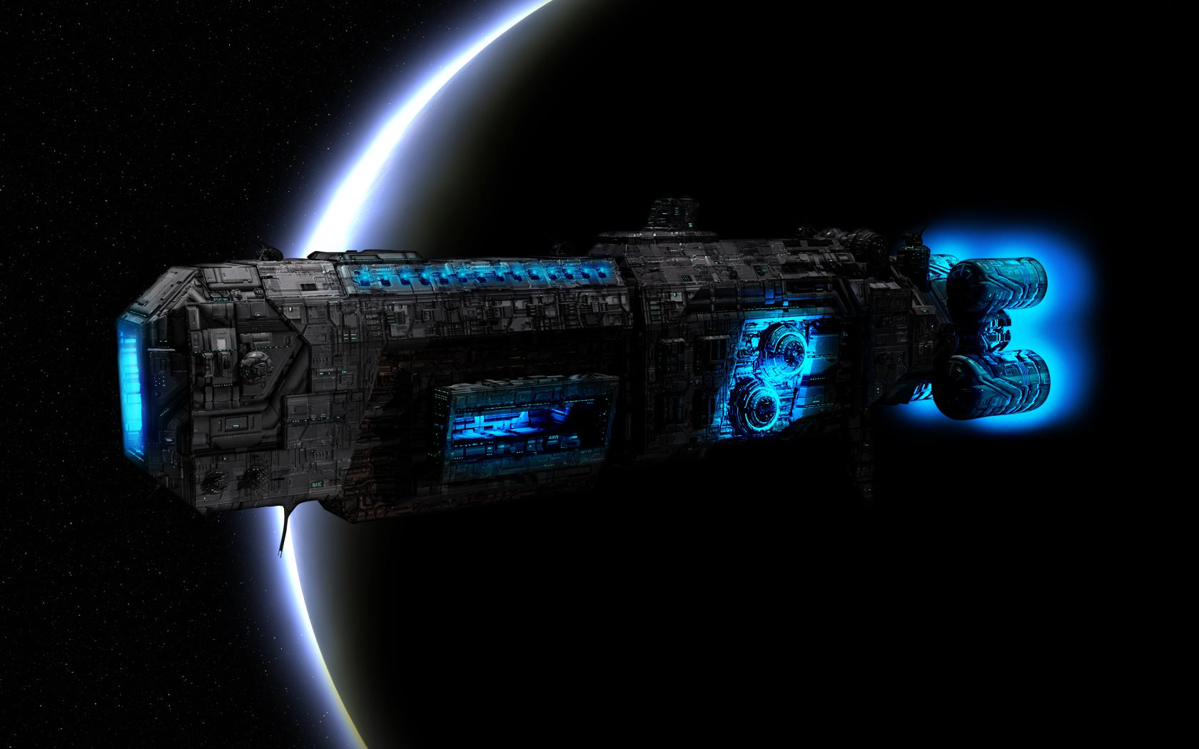 Black themed spaceship conceptual artwork and wallpapers 1 design - Fantasy Places