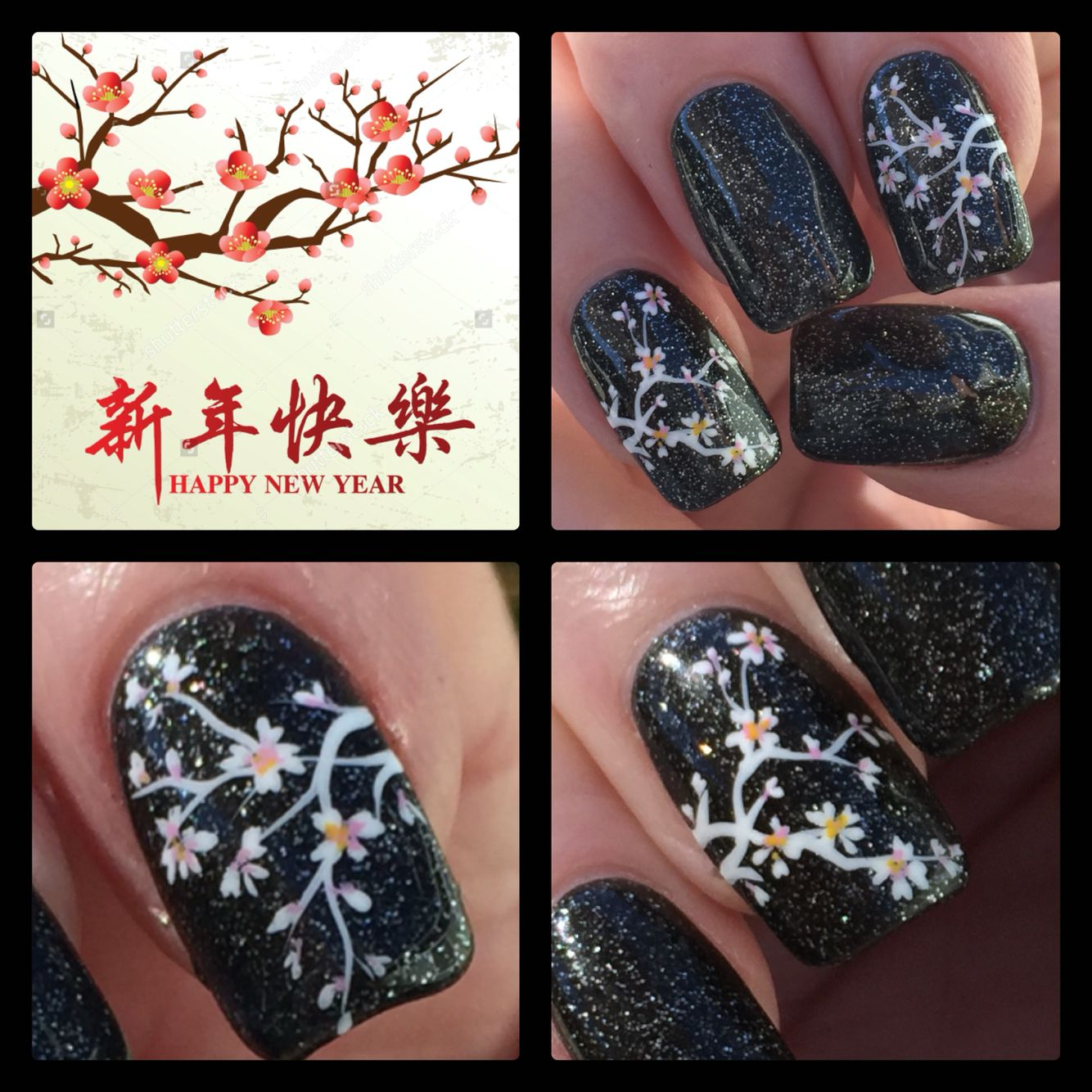 Hand Painted New Year Nail Art By Christine Artsychris Instagram