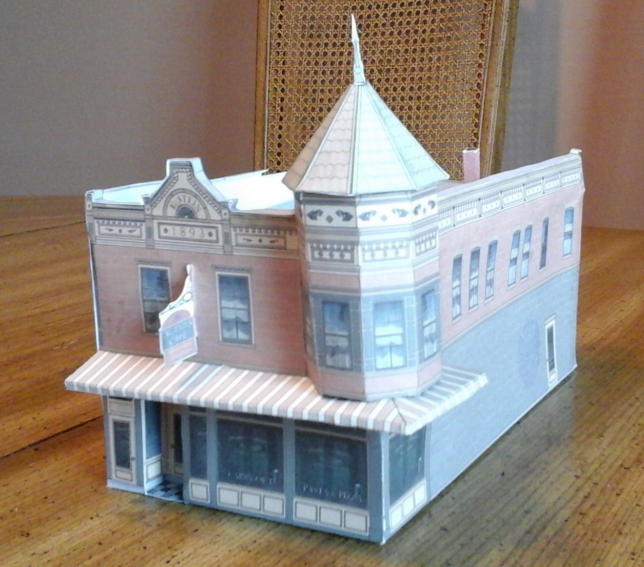 photo relating to Free Printable Model Railway Buildings named Free of charge printable ho scale fashion Espresso Retail outlet #modelrailway
