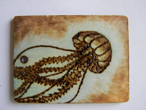 A beautiful handmade gift tag using pyrography! click the like to buy it!