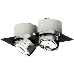 Photo of Top Light Puk Maxx Inside recessed ceiling light two-lamp black-chrome standard version Top LightTo