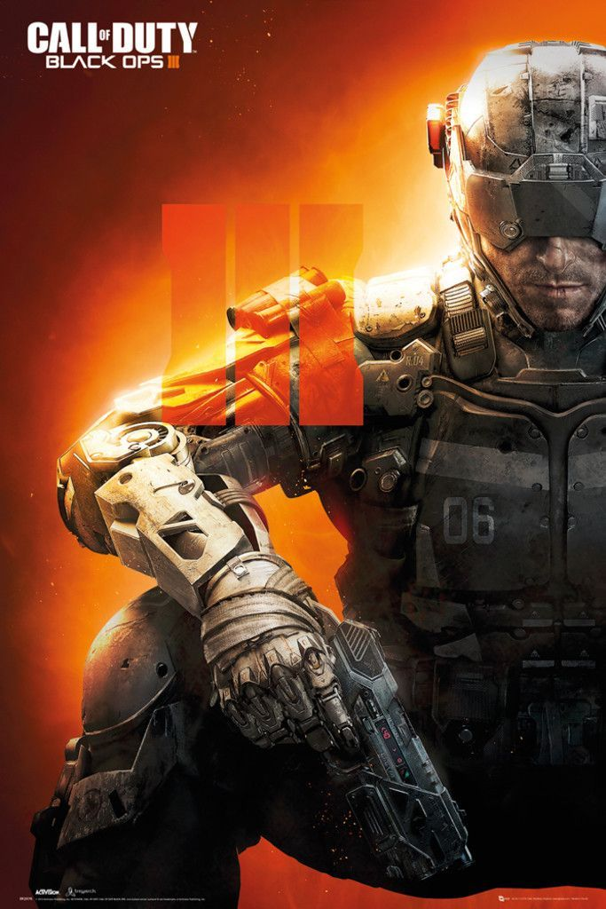 Call Of Duty Black Ops 3 Iii Official Poster Call Of Duty