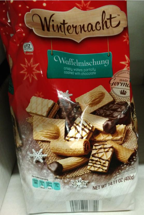Winternacht German Christmas Assorted Waffle Cookies Aldi