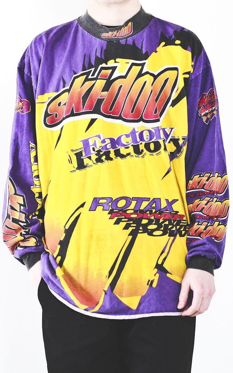 Vintage Ski Doo Factory Long Sleeve Shirt Sz 3xl Shirt Sleeves Vintage Ski Shirts
