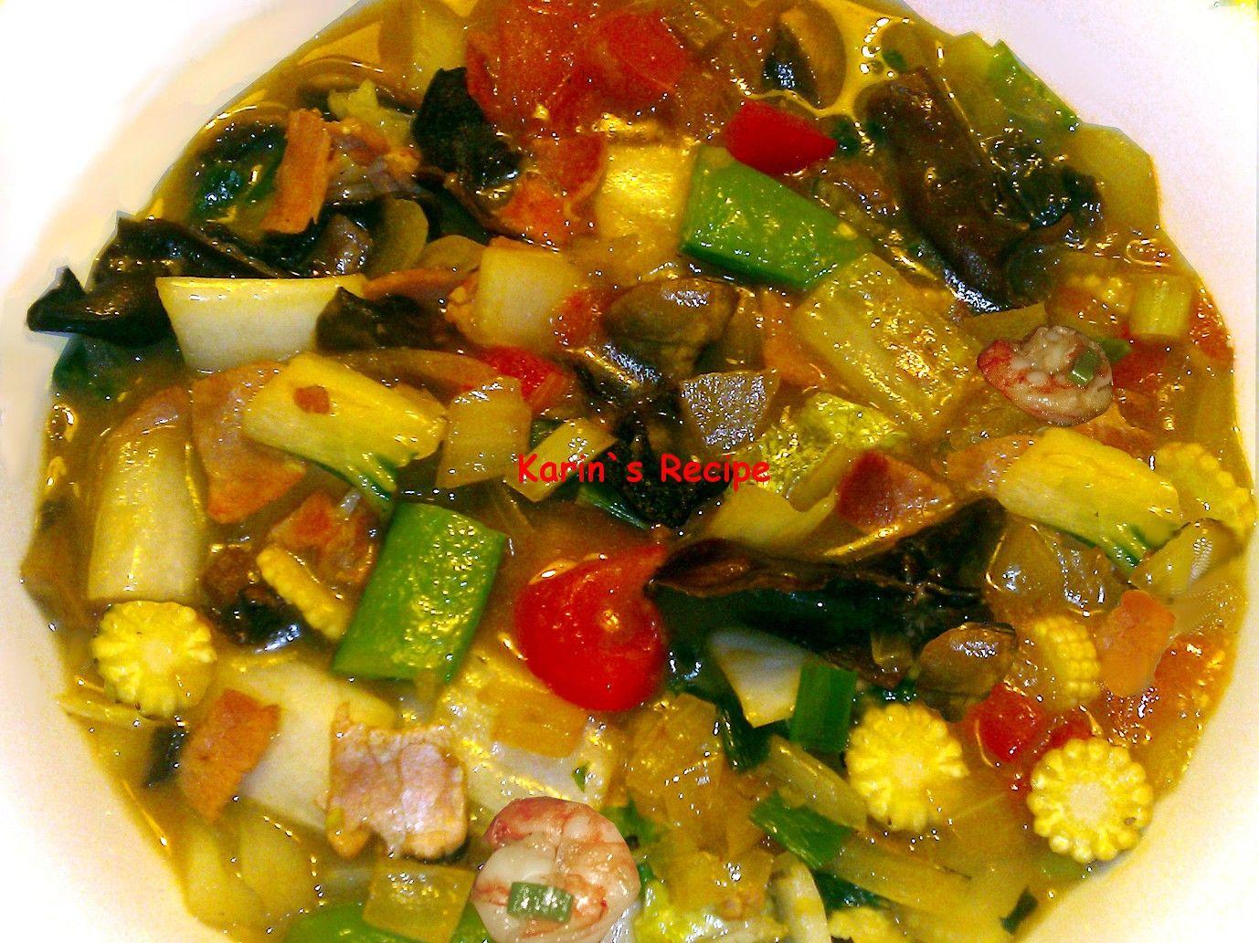 Karin S Recipe Cap Cay Goreng Fried Chop Suey Resep Makanan
