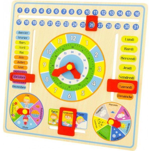 calendrier horloge ph m ride enfant jouets en bois la maternelle et pour apprendre. Black Bedroom Furniture Sets. Home Design Ideas