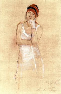 "Saatchi Art Artist Ute Rathmann; Drawing, ""Hommage à Ingres XI"" #art"
