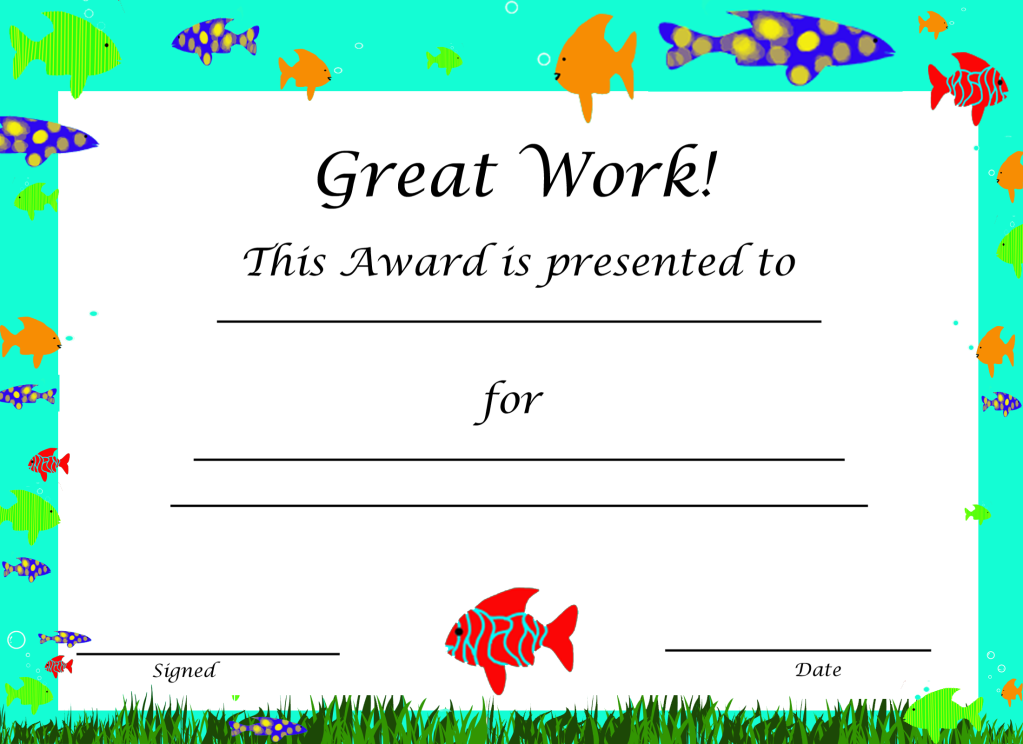 Free Award Prinables  Preschool Ideas    Free