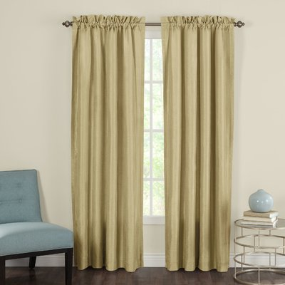 """Three Posts Taylorstown Curtain Panels Size: 54"""" W x 108"""" L, Color: Gold"""