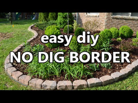 Garden lovers are amazed on how easy it is to create no dig edging around their gardens. Check out this Easy Dot it yourself project.