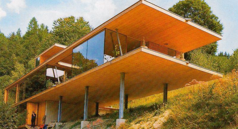 Projet de Residence fait de cross Laminated panels