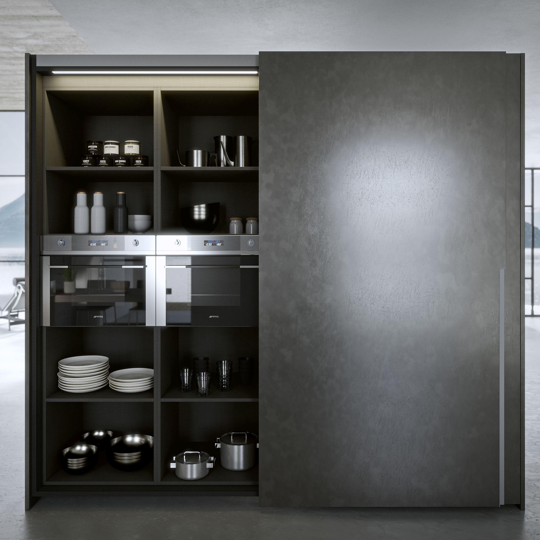 Mobile Dispensa Cucina Con Ante Scorrevoli.Colonna Con Ante Scorrevoli Complanari Sliding Doors