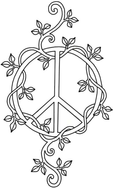Small peace sign coloring pages ~ Peace Sign | Vine tattoos, Peace sign tattoos, Peace tattoos