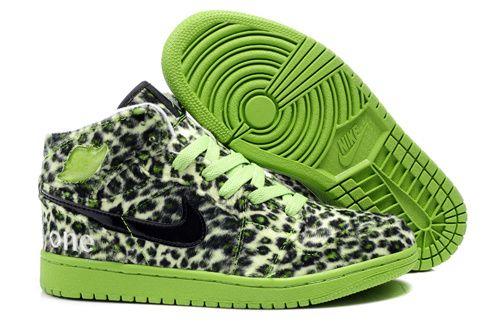 782725505c5c Air Jordan 1 High Olympic Mens Leopard Grain Black Lime Green ...