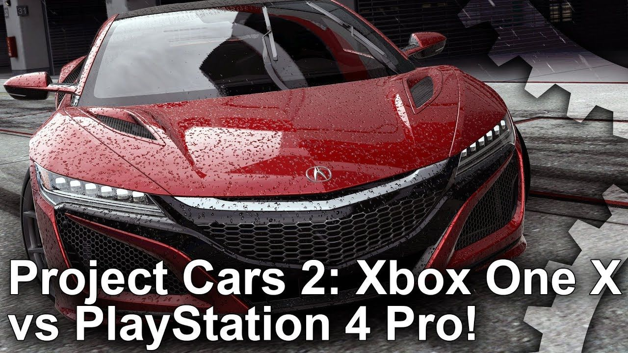 4K] Project Cars 2: Xbox One X vs PS4 Pro Graphics Comparison Frame ...
