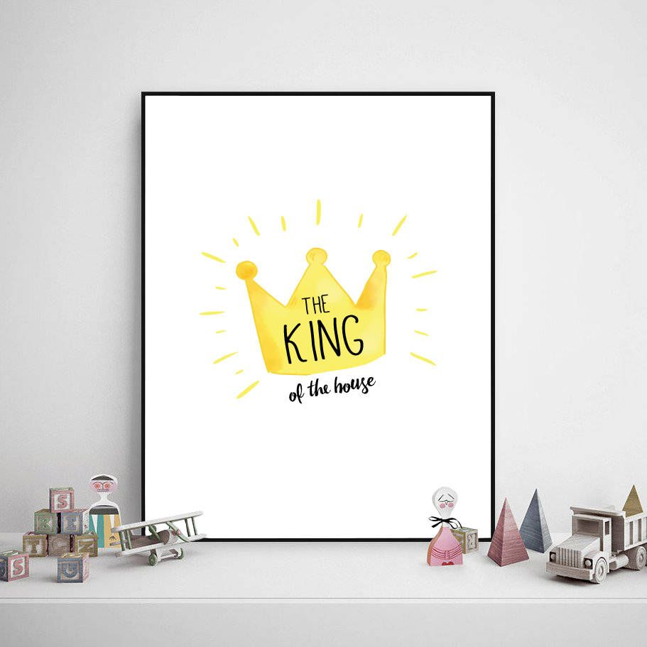 King Of The House Print, Boy Poster, Kid Room Poster, Nursery Poster,