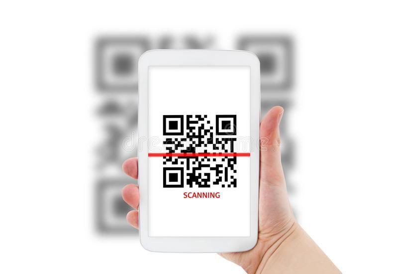 Tablet Scanning Qr Code Hand Holding Tablet With Qr Code Scanner Application Affiliate Qr Code Tablet Scanning Han Coding Qr Code Qr Code Scanner