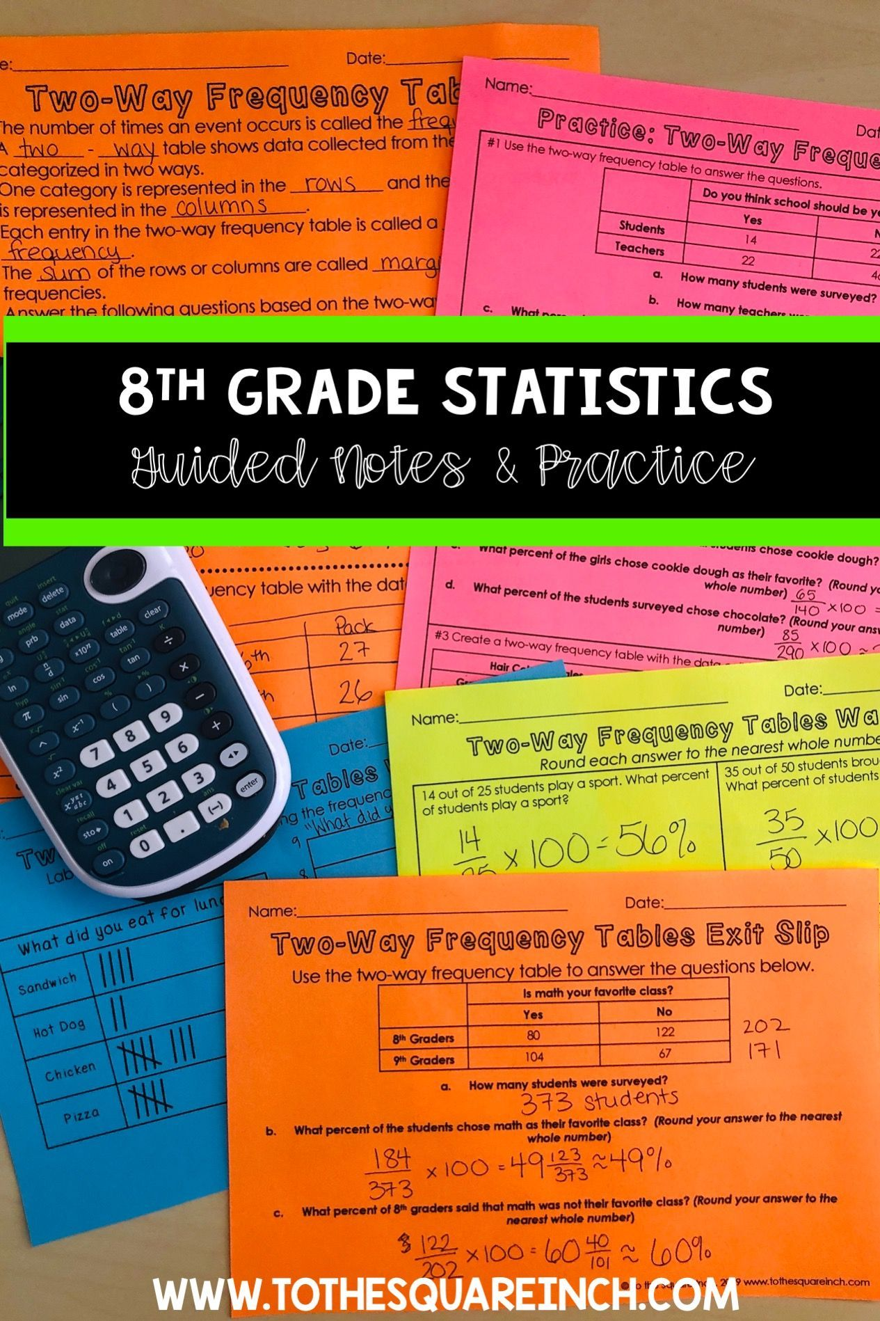 Scatter Plots Lines Of Fit And Two Way Frequency Tables Guided Notes For 8th Grade Math Common Core Statisti Math Guided Notes Frequency Table 8th Grade Math [ 1898 x 1265 Pixel ]
