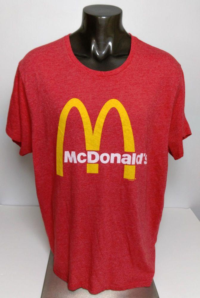 Old Navy Collectibles McDonalds Cardinal Red Men's Size 3XL XXXL T ...