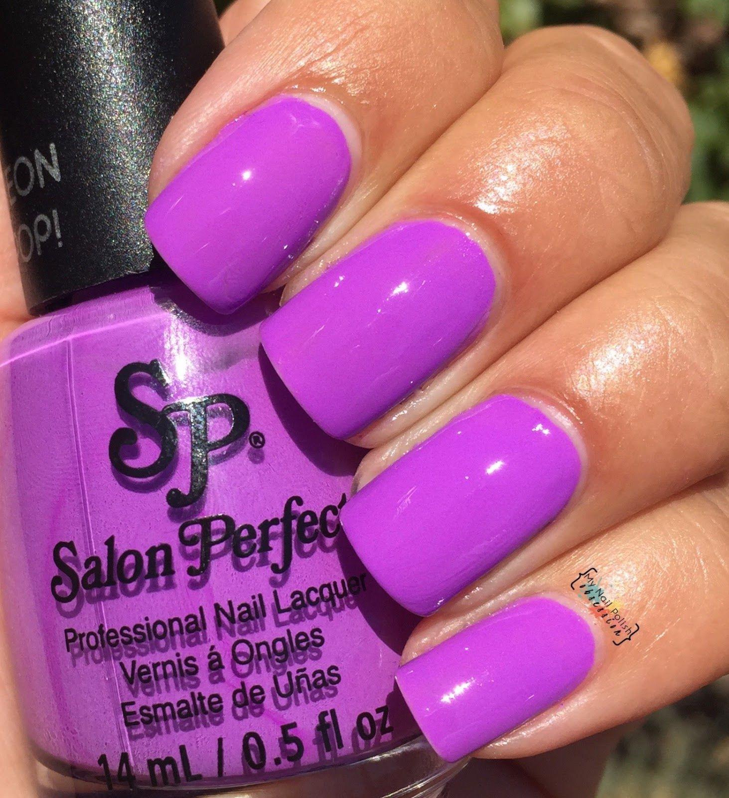 Salon Perfect Purple Pop! | 2015 My Nail Polish Obsession Swatches ...