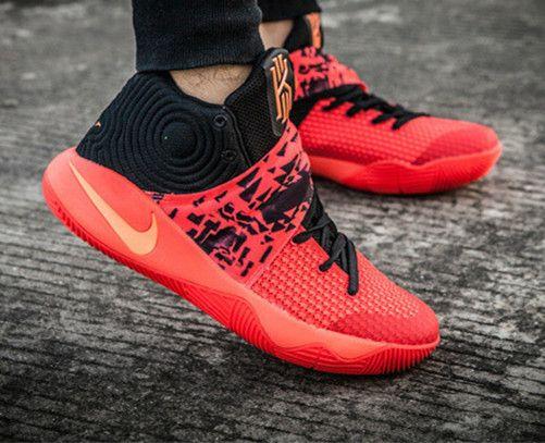 f4cdcdd32d10 Nike Kyrie II 2 Inferno Bright Crimson Atomic Orange Black Tie Dye ...