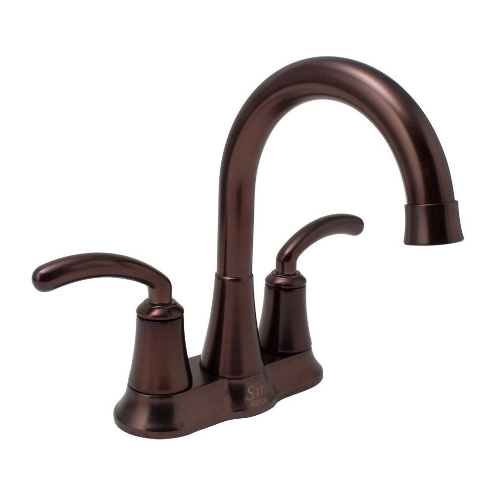 Sir Faucet 7042 Brass Double Handle Bathroom Faucet Oil Rubbed