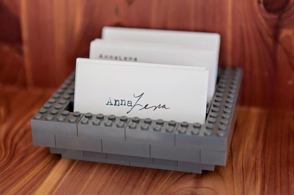 16pt matte aqueous business cards for analena restaurant
