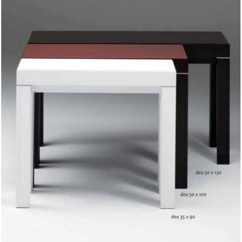 Tavolo Consolle Design Lux 130x50 Allungabile 3 5 Metri Poro Aperto