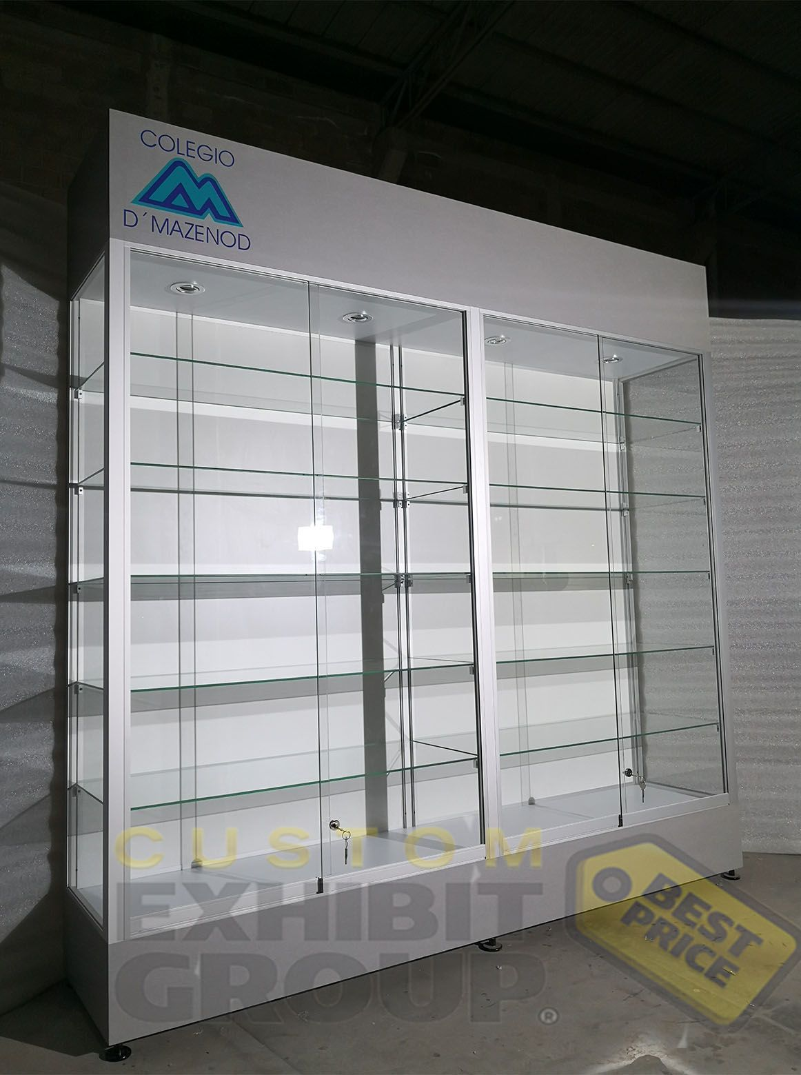Fully Customized Display Cabinets Custom Display Case Wall
