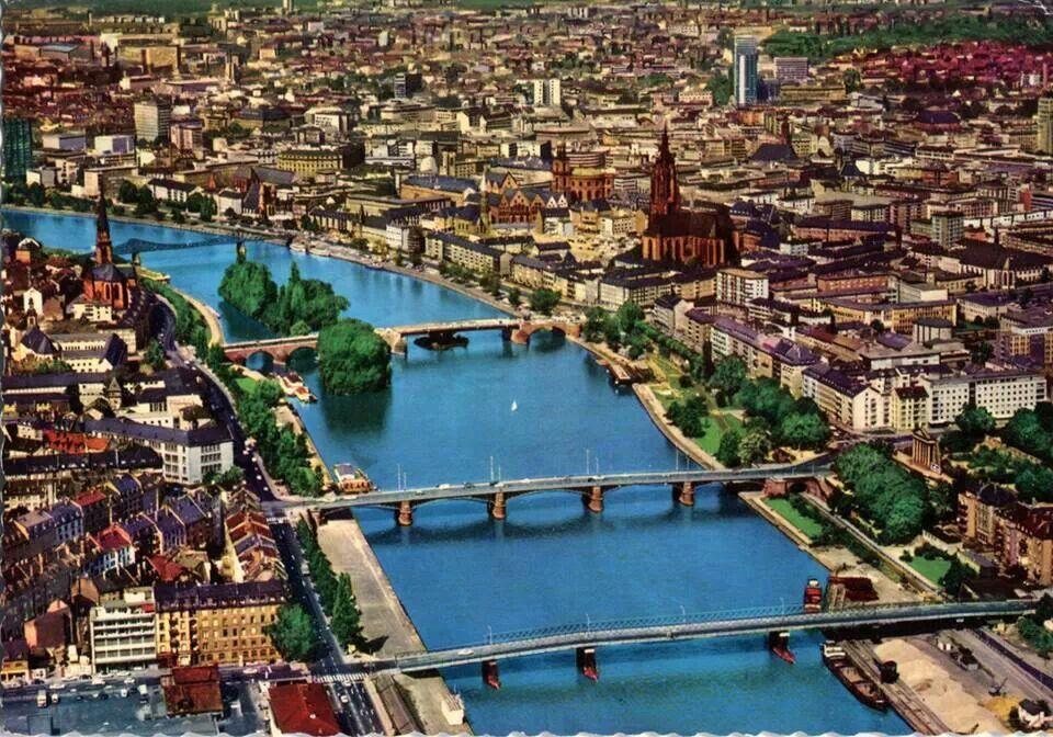 Frankfurt 1970 Postcard Germany Pinterest Frankfurt   Google Zentrale Irland