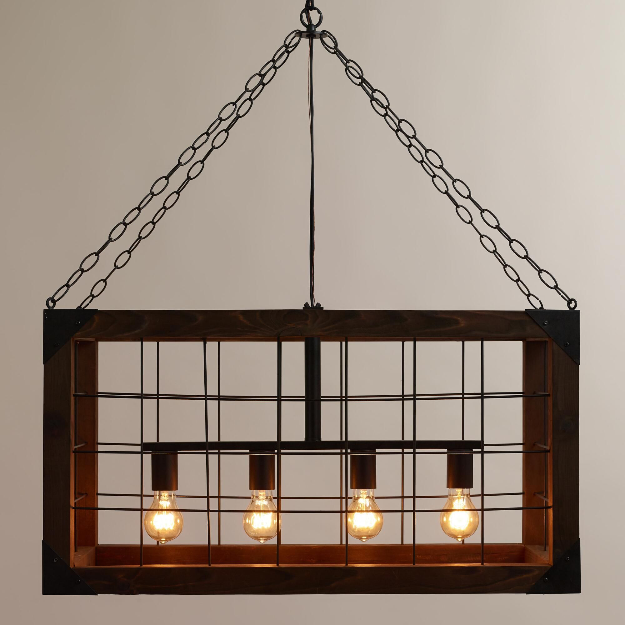 Rectangular Farmhouse Pendant Lamp
