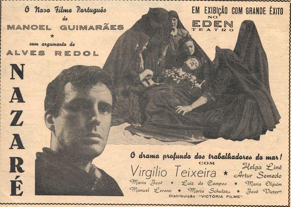 A Cinco Tons: Nazaré (realização de Manoel Guimarães e texto de Alves Redol) hoje no Páteo do INATEL