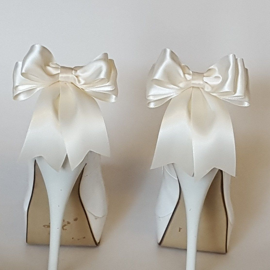 Navy blue shoe clips bridal shoe clips satin bow shoe clips shoes