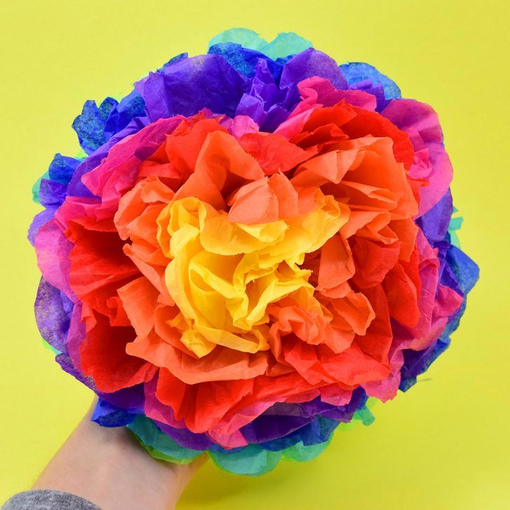 Tissue paper pompoms pinterest tissue paper craft and tissue can you believe these gorgeous flower pompoms are made out of tissue paper simple to mightylinksfo