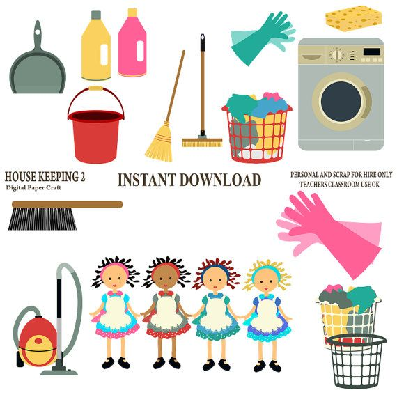 Clipart House Keeping 2 Commercial Use for Card Design ...