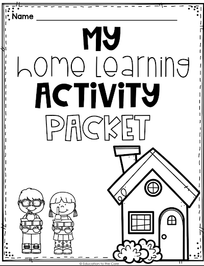 Photo of FREE Home Learning Packet!!