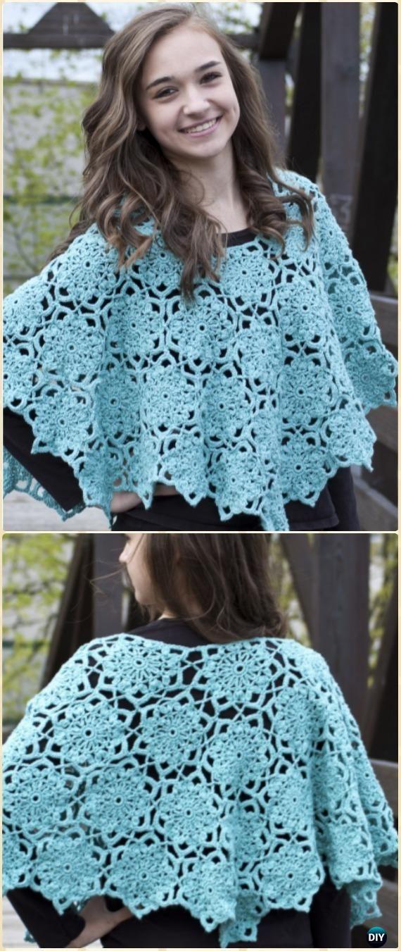 Crochet Women Capes & Poncho Patterns & Tutorials | Ponchos, Dos ...