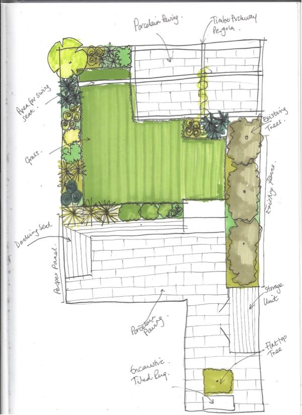 Woodford couple seeks contemporary garden design for fun times is part of Contemporary garden Decking - Woodford couple seeks contemporary garden design for fun times  Earth Designs Garden Design and Build