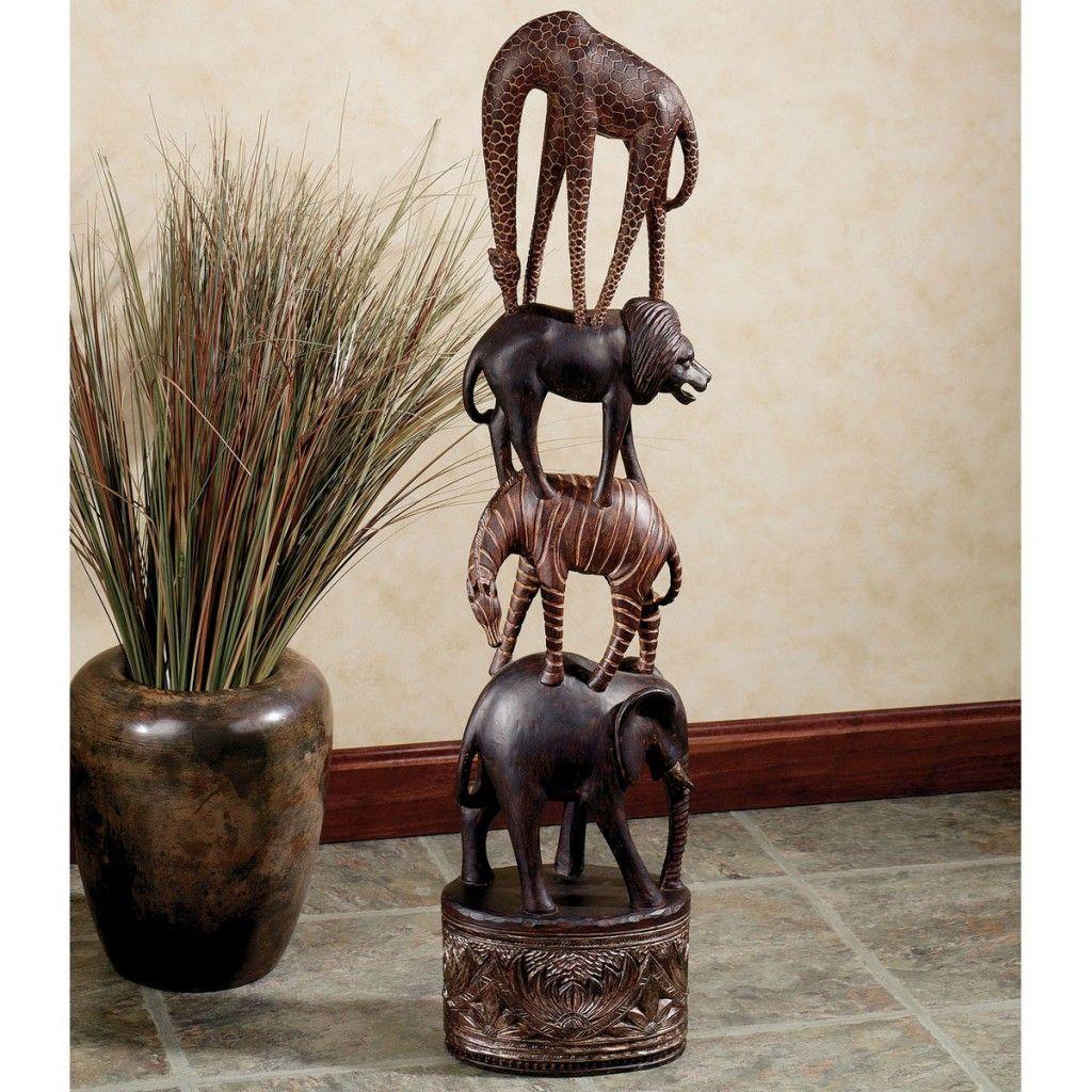 African Living Room Design Ideas: African Safari Decor For Statue : Unique