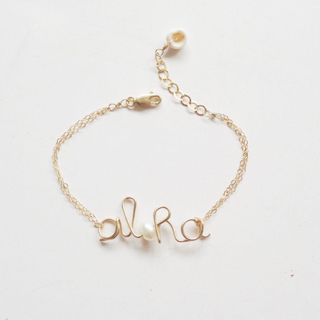 Aloha mini bracelet k goldfill bracelets craft and gift