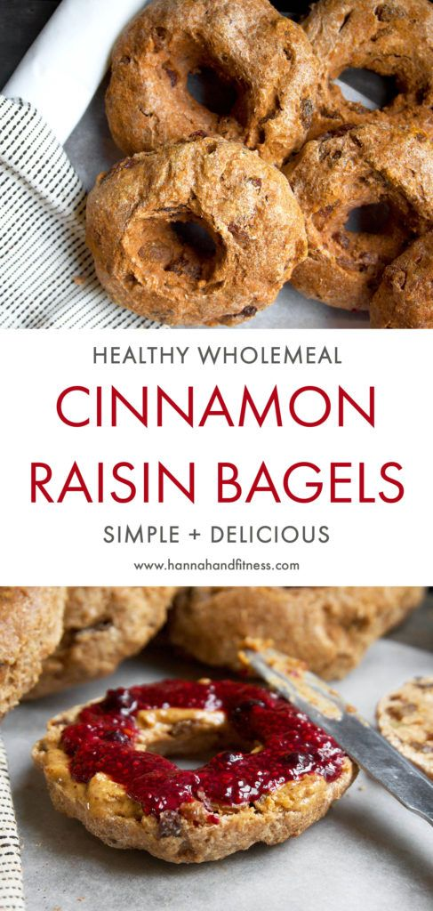 A delicious and healthy take on the classic cinnamon raisin bagel recipe. These bagels are light, sweet and made with simple and healthy ingredients. Give this quick and easy bagel recipe a go for some healthy breakfast/snack recipe inspiration!