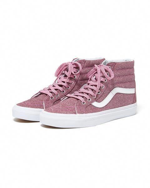 sk8-hi reissue - pink glitter by vans - shoes - ban.do ...
