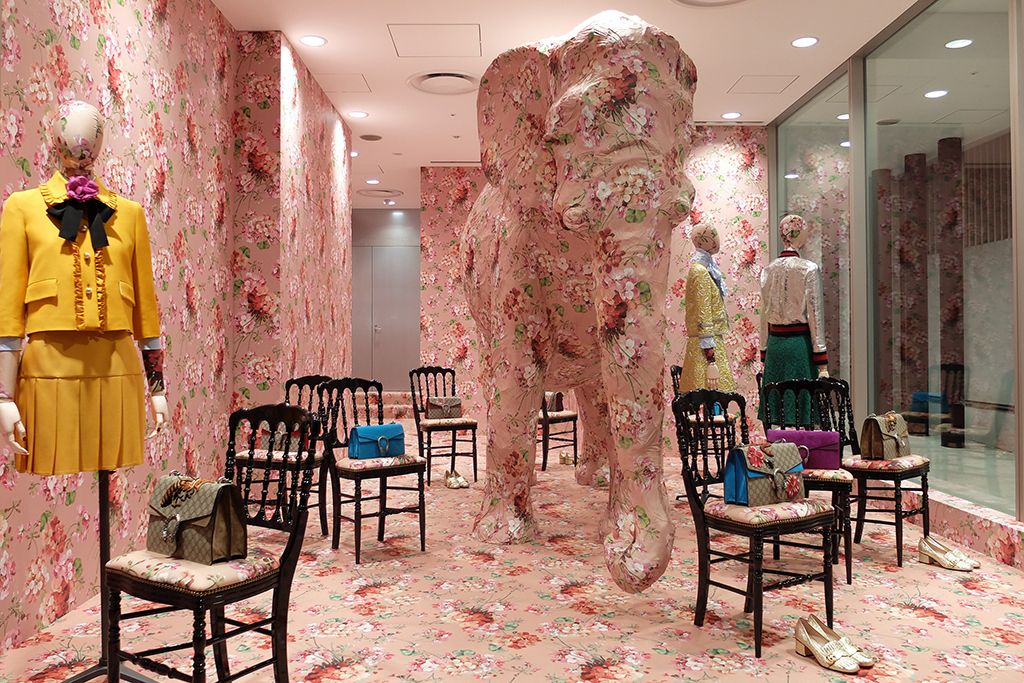 Gucci Customizes Dover Street Market Ginza\'s Elephant Room | Dover ...