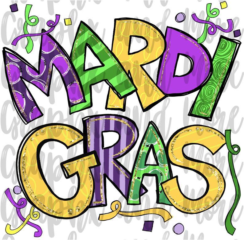 Mardi Gras Png Hand Drawn Sublimation Design Etsy In 2021 Mardi Gras Crafts Mardi Gras Images Mardi Gras Svg