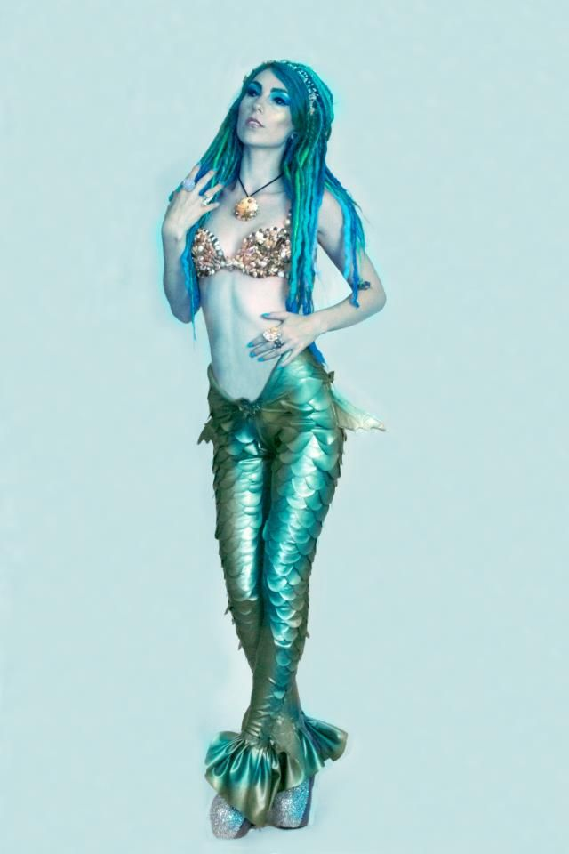 Halloween costumes · mermaid model kerry wheeler latex ...  sc 1 st  Pinterest & mermaid model kerry wheeler latex leggings and shell bra by am ...