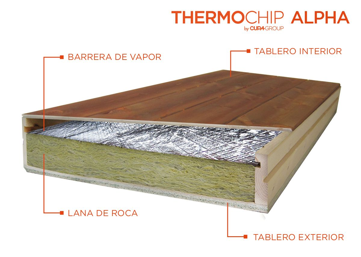 Thermochip alpha potencia el aislamiento gracias a la for Tejados de madera thermochip