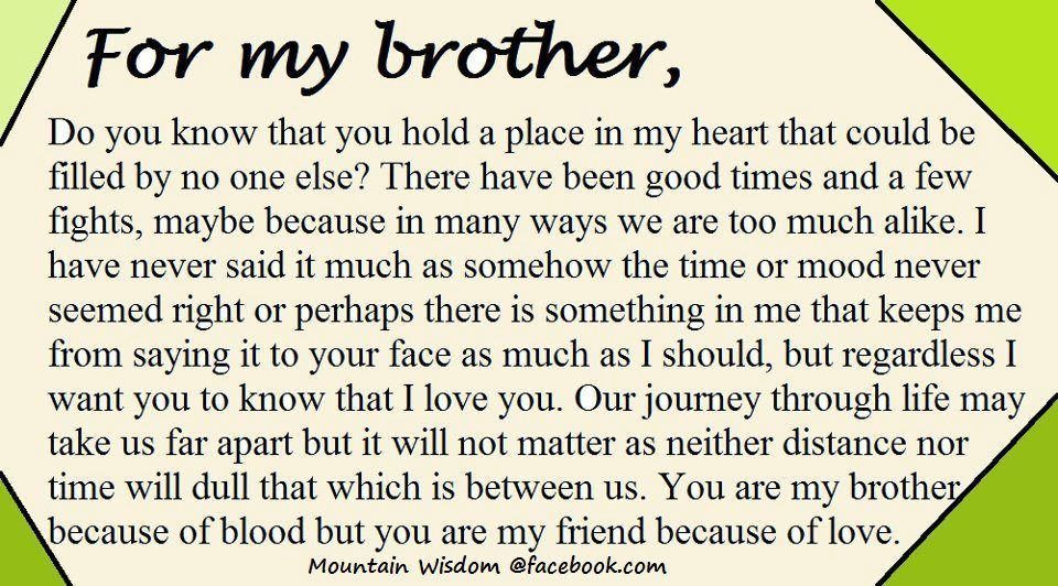 for my brother | Sayings Quotes and Words of Wisdom | Brother quotes